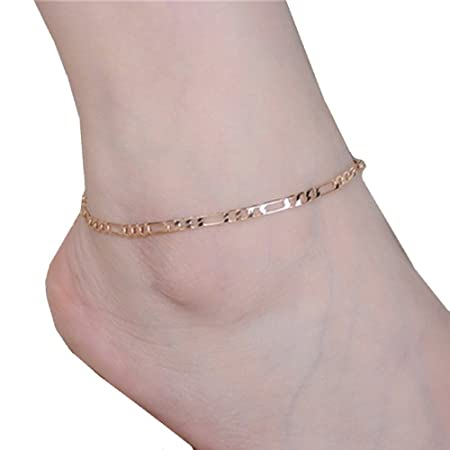 Fulltime(TM) Lady Simple Fashion Gold Metal Ankle Chain Bracelets Anklets (Gold) RlRP0ZH7P