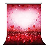 Elisona-5 x 7ft Vinyl Valentine's Day Photography Background Studio Photo Backdrop Props Decoration Red Hearts Style