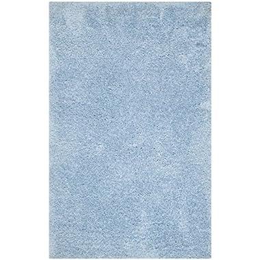 Safavieh Supreme Shag Collection SGS621D Light Blue Area Rug, 3 feet by 5 feet (3' x 5')