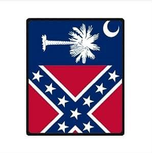 Best Custom Blanket - South Carolina State Flag Fleece Blanket 50 x 60 (Medium)
