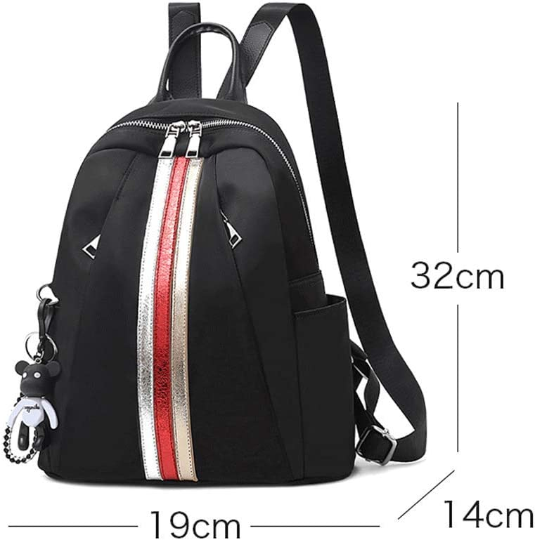 Backpack LCSHAN Unisex Shoulder Leather Retro Personality Multi-Function Bag