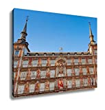 Ashley Canvas, Mayor Plazin Center Of Madrid Spain, Home Decoration Office, Ready to Hang, 20x25, AG5527807