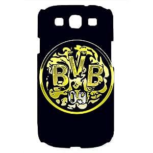 Borussia Dortmund Logo Phone Case for Samsung Galaxy S3 3D Hard Black Plastic Cover