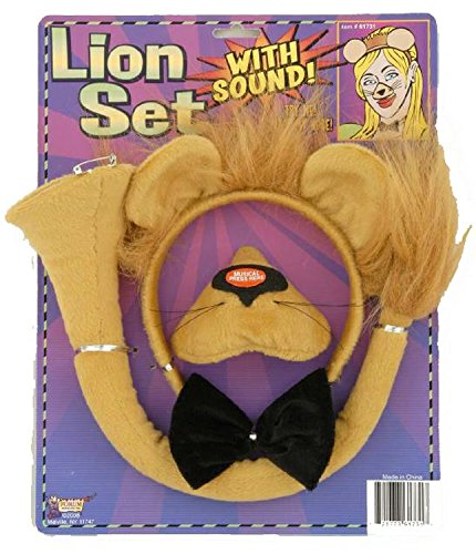 Lion Set with Sound - Costume Accessory - Girls Lion Kit