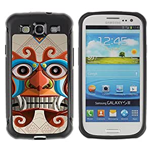 Hybrid Anti-Shock Defend Case for Samsung Galaxy S3 / Inca Aztec God