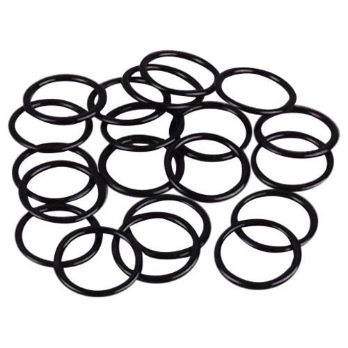 """Porcelynne Black Nylon Coated Metal Replacement Bra Strap Ring - 3/8"""" (10mm) Opening - 10 Pairs (20 Pieces)"""