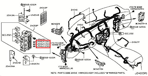 51eWJfWK3OL amazon com infiniti genuine wiring fuse 24319 89910 qx80 qx56 Ford Fuse Box Diagram at n-0.co