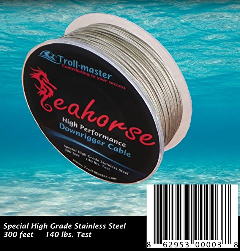 UPC 862953000021, Seahorse Downrigger Stainless Steel Cable 300 Feet