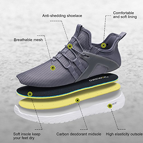 566a98e950295 ONEMIX Slip-On Running Shoes Men - Lightweight Casual Sports Cushioning Gym  Sneakers