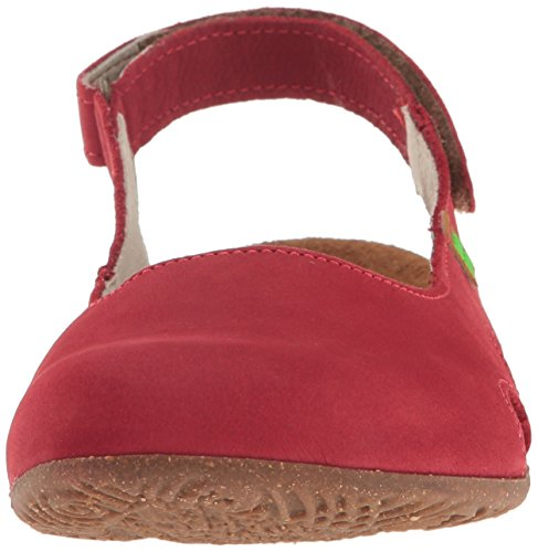 El Naturalista Women's N413 Pleasant Wakataua Closed Toe Sandals, Green Red (Tibet)