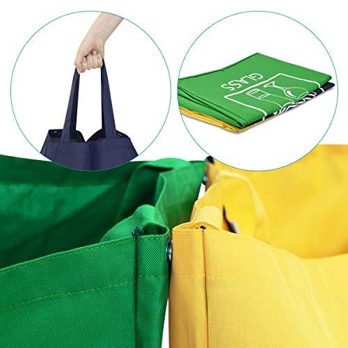 Navaris Set de Bolsas para Reciclaje - 3 Bolsas de Basura ...