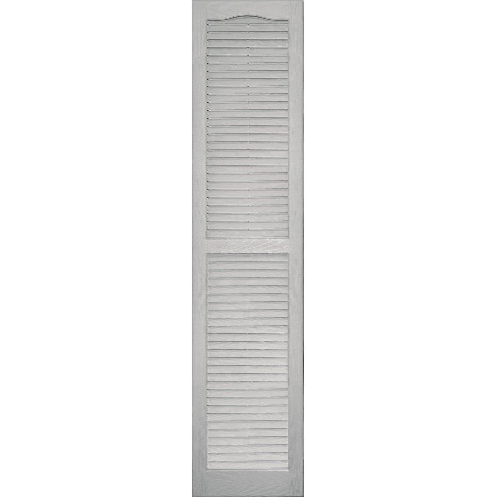 Vantage 0114063030 14X63 Louver Arch Shutter/Pair 030, Paintable