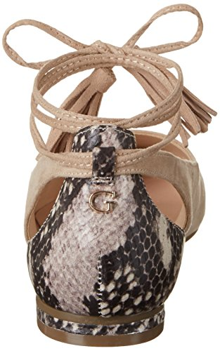 Guess Damen Sevita Ballerinas Bianco Sporco (light Natural)