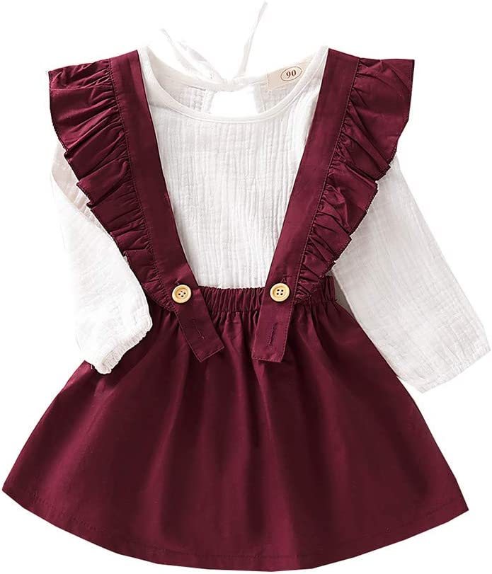 Amazon Com Topbigger 2020 New Baby Girls Dresses Cute Toddler Infant Newborn Baby Girl 3pcs Overalls Skirt Headband Romper Clothes Summer Autumn Outfits Everything Else