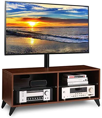 5Rcom Wood Entertainment Center TV Stand Console