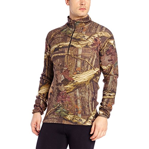 Minus33 Merino Wool Men's Isolation Midweight 1/4 Zip, Mossy Oak, XX-Large