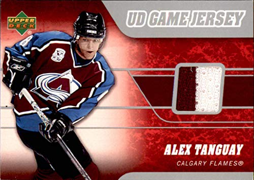 2006-07 Upper Deck GAME USED JERSEY #JAT Alex Tanguay 2-Color COLORADO AVALANCHE NHL Network Hockey Analyst