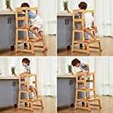 Wiifo Kids Kitchen Step Stool with Safety