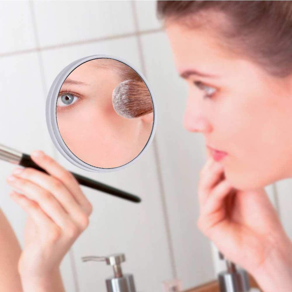FOONEE Aumento x10 Espejo para ba/ño Maquillaje Espejo Redondo Espejos de Viaje de Espejo de Maquillaje de ba/ño para Maquillaje