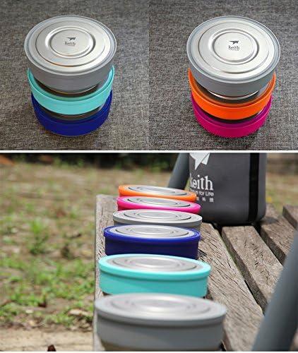 3pcs Keith ti5378/port/átil titanio Bento cajas de almuerzo al aire libre Camping ultraligero cuenco con tapa para picnic
