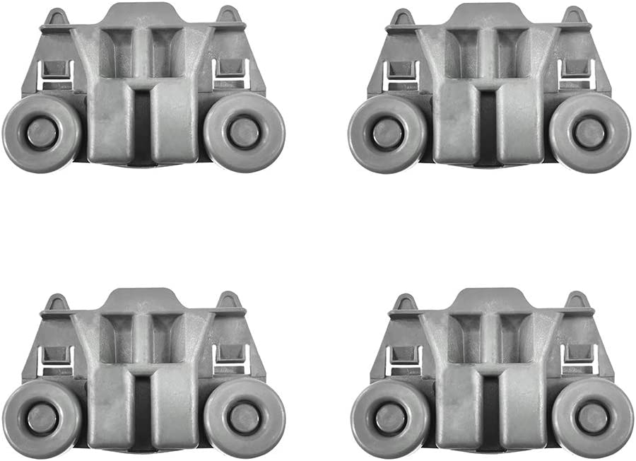 Yours 4 Pcs Replace for W10195417VP,W10195417V Dishwasher Wheels,and Perfect Replacement for Whirlpool,Kenmore Dishwasher