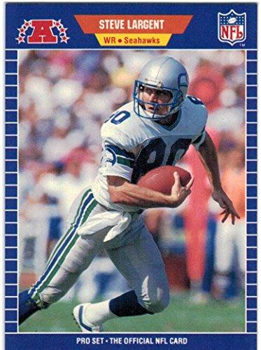 Curt Pro Series - 1989 Pro Set Series 1-2 & Update Seattle Seahawks Team Set with Steve Largent & Curt Warner - 21 Cards