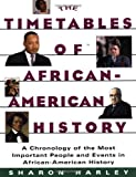 Timetables of African-American History, Sharon Harley, 0684815788