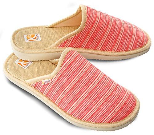 Bosaco por Sintético de Zapatillas mujer Material de Coral para estar casa Closed TqnTxwBZr