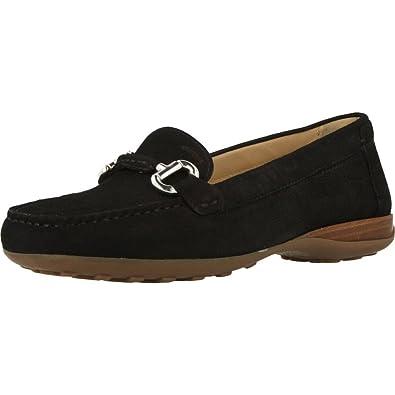 Mocasines para Mujer, Color Negro, Marca GEOX, Modelo Mocasines para Mujer GEOX D Euro D Negro: Amazon.es: Zapatos y complementos