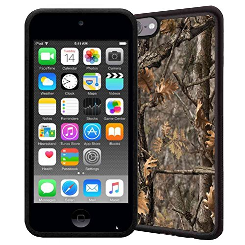 Brown Ipod Touch (iPod Touch 6 Case, iPod Touch 5 Case, ABLOOMBOX(TM) Scratch Resistant Flexible Bumper TPU Rubber Soft Skin Silicone Protective Case Cover - Brown Hunting Camo Fabric Camouflage)