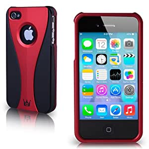 Casecrown  Exo Case for Apple iPhone 4 and 4S - 1 Pack - Retail Packaging - Red/Black