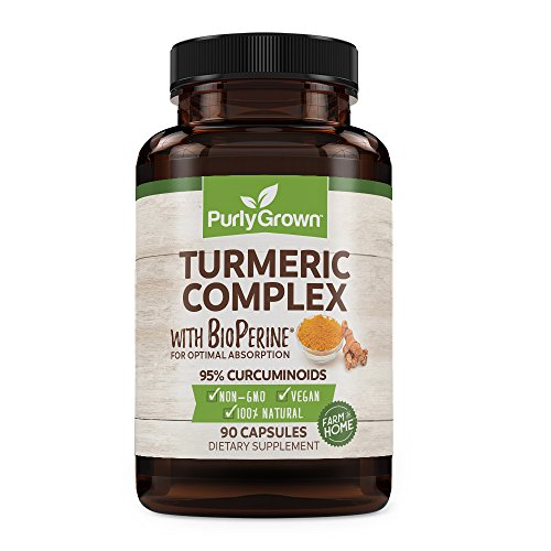 Turmeric Curcumin, BioPerine & Black Pepper: Daily Anti Inflammatory Supplement for Health & Joint Benefits | Turmeric Root Extract and Organic Powder for Complete Absorption & Support | 90 Capsules (Stiff Nights Male)