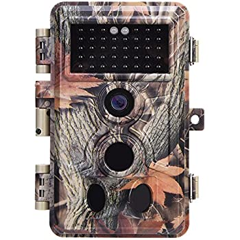 "Zopu Trail Camera 16MP 1080P No Glow Night Vision, Game Camera with 2.4"" LCD 120° PIR Sensors, Hunting Camera 0.2s Trigger Speed, Wildlife Camera IP66 Waterproof Protected"