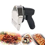 LiBai Doner Kebab Commercial Gyros Knife Electric Shawarma Machine 110V Battery Type Gyro Cutter Slicer Sliced Meat with 2 blades