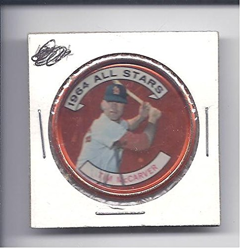Coin St Louis (TIM MCCARVER 1964 Topps All-Stars Coin #156 St. Louis Cardinals Baseball)