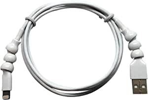 Snakable Apple Certified MFI Lightning to USB Armored Cable - 4' (1.2 Meters) Cloud White