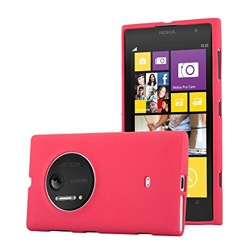 Cadorabo Case Works with Nokia Lumia 1020 in Frost RED - Shockproof and Scratch Resistant TPU Silicone Cover - Ultra Slim Protective Gel Shell Bumper Back Skin (Nokia 1020 Clear Case)