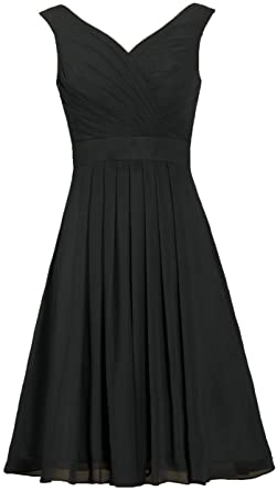 523ee62a6a4 ANTS Women s Straps Chiffon Bridesmaid Dress Short Evening Gowns Size 2 US  Black