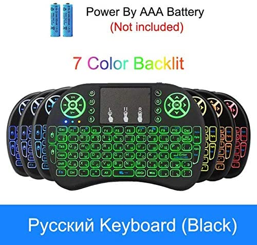 Color: with battery Calvas Wireless 2.4GHz Keyboard Air Mouse Touchpad Handheld Remote Control for Android TV Box PC Smart TV