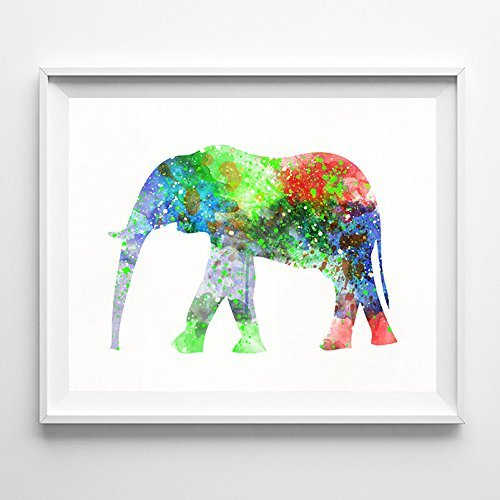 Elephant Watercolor Art Wall Decor Nursery Room Poster UNFRA