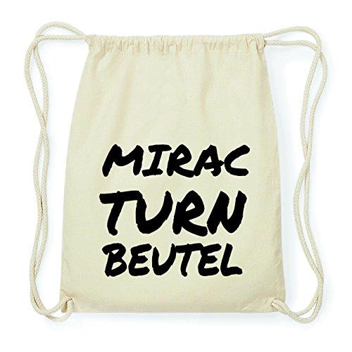 JOllify MIRAC Hipster Turnbeutel Tasche Rucksack aus Baumwolle - Farbe: natur Design: Turnbeutel