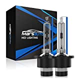Marsauto D4S Xenon HID Headlights Bulb 2 Pack Diamond White 6000K 35W Super Bright Direct Replacement Bulb with Gloves