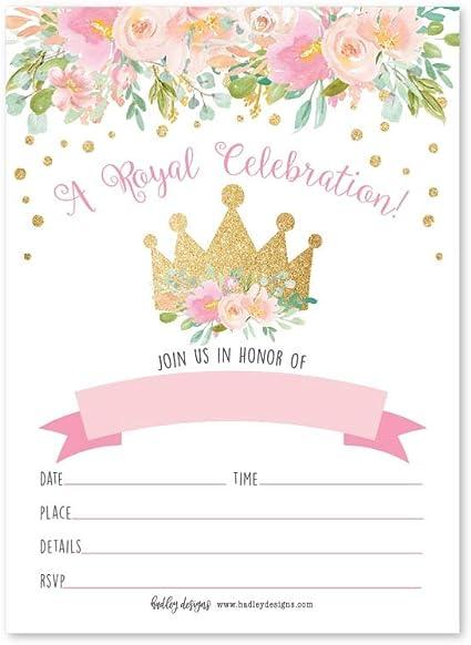 Crown birthday. Girl birthday party Girl 1st birthday invitation Royal invitations Princess invitations 2nd birthday invitation