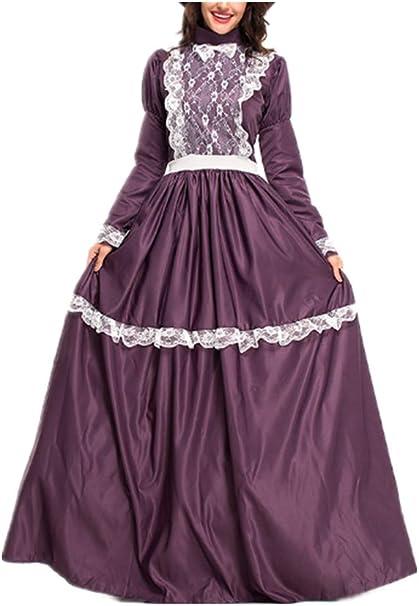 Mitef Disfraz de Pradera para Mujer, Disfraz Medieval, Vestido de ...