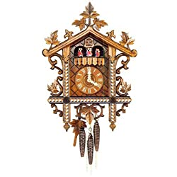 Original One Day Movement Cuckoo Clock with Hand Carved Wooden Hands 19 Inch