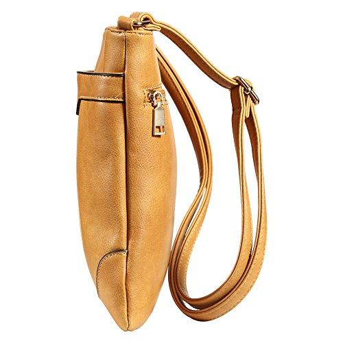 Pocket Cross Purses Women XY Bags for Brown Vegan Fancy Crossbody Shoulder Handbags Multi WYY4vwqHx