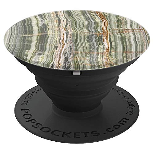 Texture looks like striped onyx, striped agate,striped stone - PopSockets Grip and Stand for Phones and Tablets