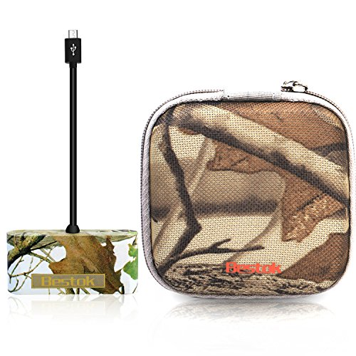 Bestok Trail Cameras SD Card Reader for Android Smartphone Phones Tablets Game Camera Viewer Micro Usb Connection with Storage Case