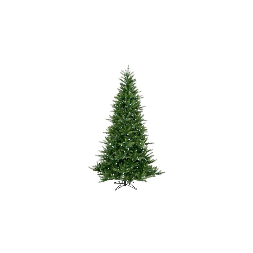 9 Pre lit Tiffany Spruce Artificial Christmas Tree   White LED Lights