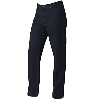 New Men/'s Rockford Stretch Denim Jeans Blue /& Black Regular Big Kingsize Zip Fly